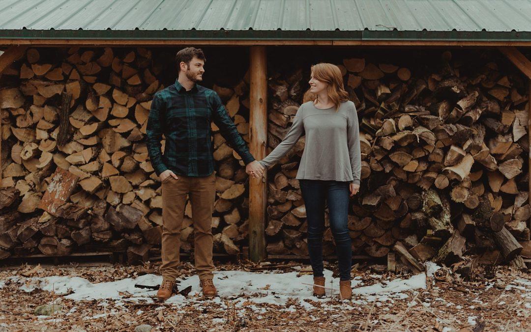 Katelyn & Jerod Engagement Session – Seths Coffee Little Chute, WI
