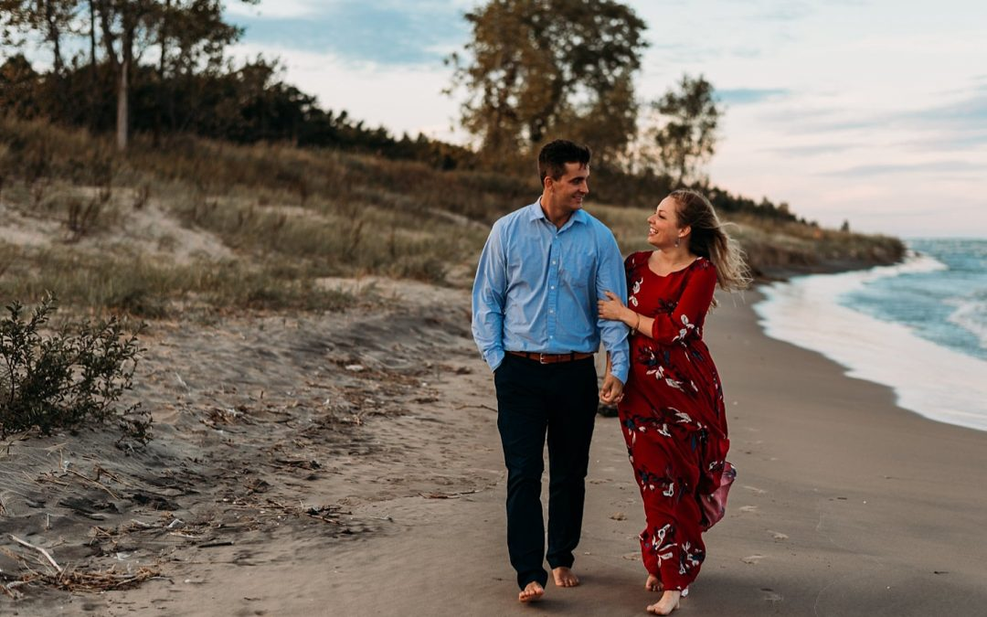 Couples Session Point Beach State Park – Carlee Secor Photography Green Bay WI