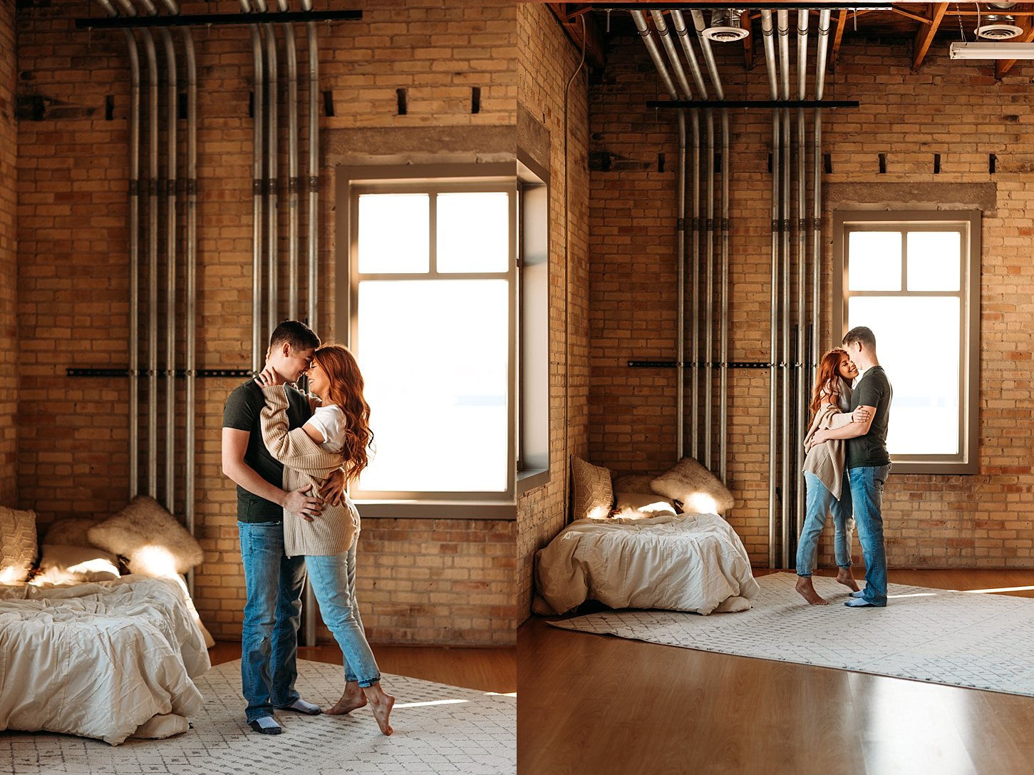 in home photography engagement session carlee secor photography green bay wisconsin