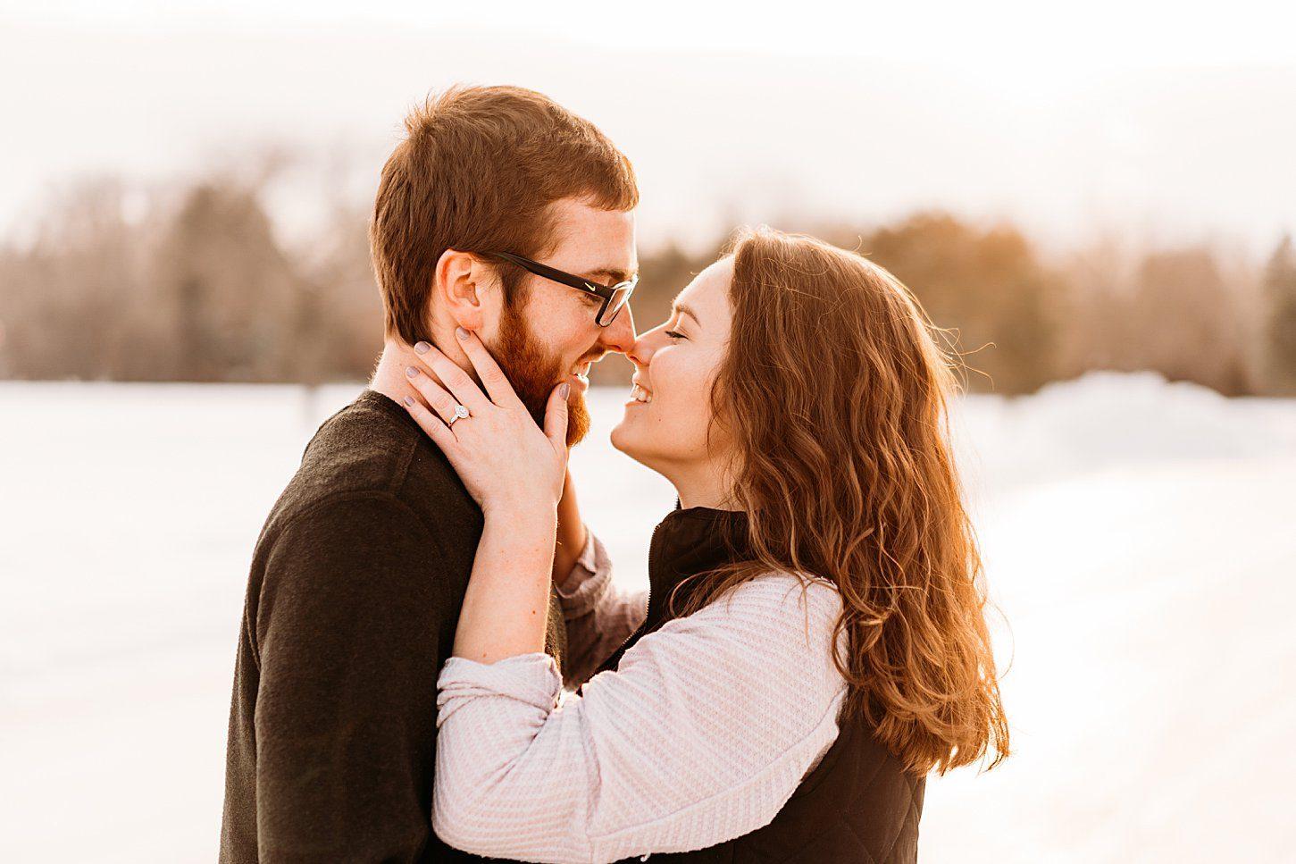 Winter Engagement Session – Levi & Joliette