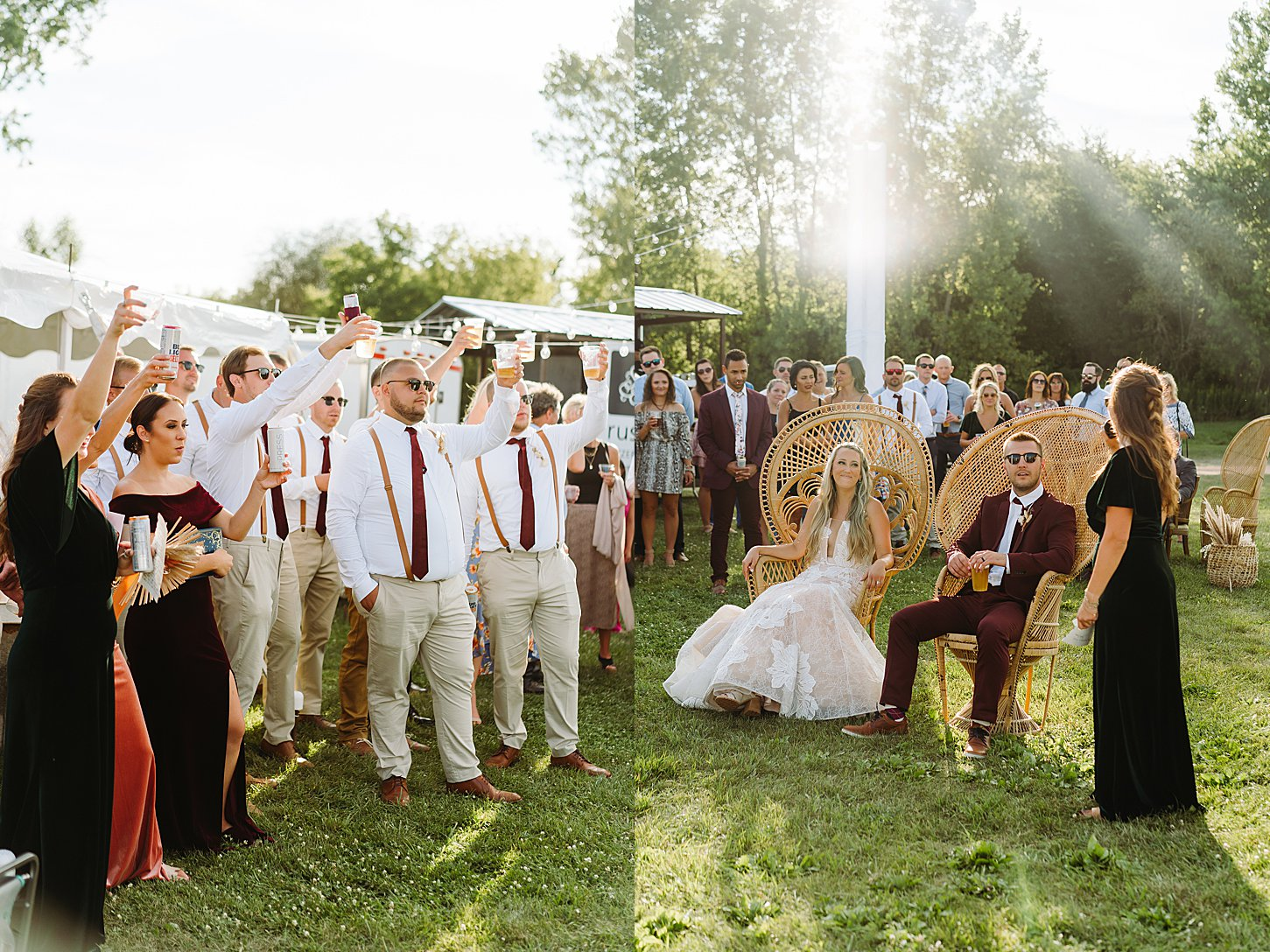 green bay wedding photographer carlee secor boho summer wedding