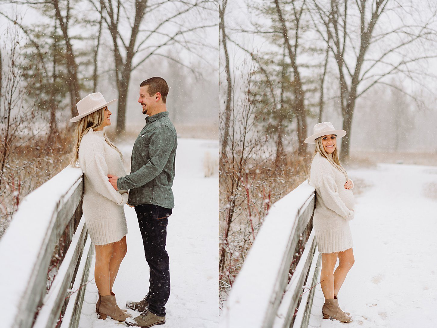 Jackie & Daniel – Winter Maternity Session