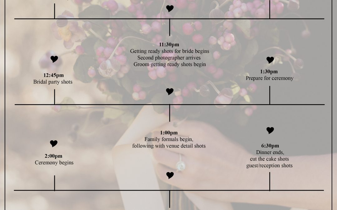 Free Wedding Timeline Download for Wedding Professionals! – Carlee Secor Photography