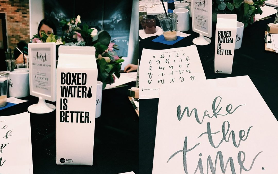 AVANT Brush Lettering Workshop – Backstage at the Meyer